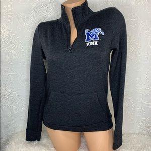 VS PINK Memphis Tigers 1/4 Zip Bling Sweatshirt XS